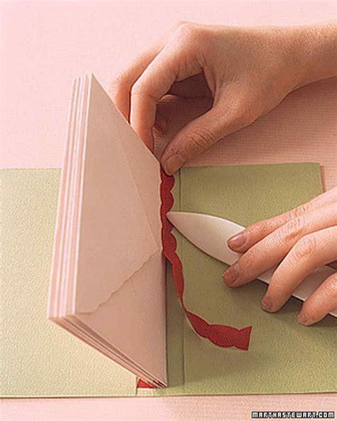 envelope books paper binding   martha stewart