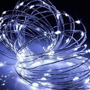 Guirlande Led Pile : guirlande 40 led goutte blanc froid lux et d co ~ Teatrodelosmanantiales.com Idées de Décoration