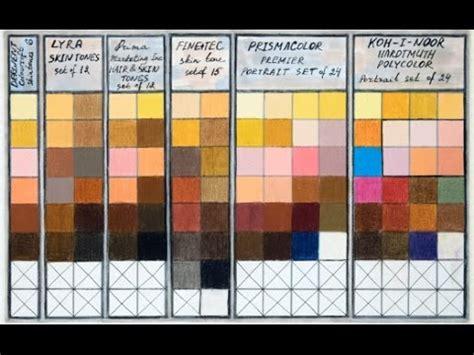prismacolor skin tone colored pencils colored pencils skin tones chart combinations portrait