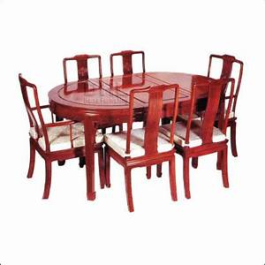 chinese rosewood oval dining table 6 carver chairs long life With rosewood furniture home design