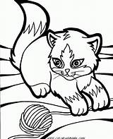 Coloring Pages Wind Chimes Kittens Printable Kitty Baby Cats Cartoon Cute Google Puppys A4 sketch template