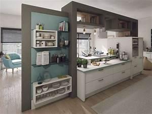 Deco Piece A Vivre Avec Cuisine Ouverte : 30 cuisines ouvertes et rus es elle d coration ~ Premium-room.com Idées de Décoration