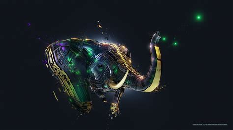 Digital Hd Wallpaper For Pc by Desktopography Elephants Digital Adam Spizak