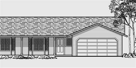 story ranch style house home floor plans bruinier associates