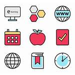 Learning Icons Icon Education Hernandez Alfredo Vector