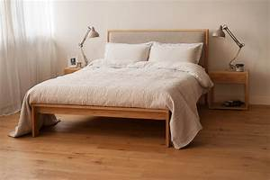shetland bed padded headboard natural bed company With bed with cloth headboard