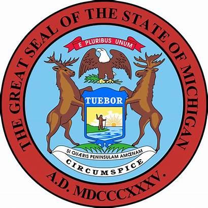Michigan Wikipedia History Seal Svg State States