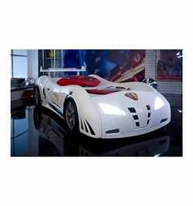 Lit En Forme De Voiture : lit voiture m3 white meubles jem ~ Teatrodelosmanantiales.com Idées de Décoration