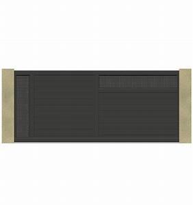 Portail Alu Coulissant 3m : portail coulissant 3m 4m 5m en t le aluminium ~ Edinachiropracticcenter.com Idées de Décoration