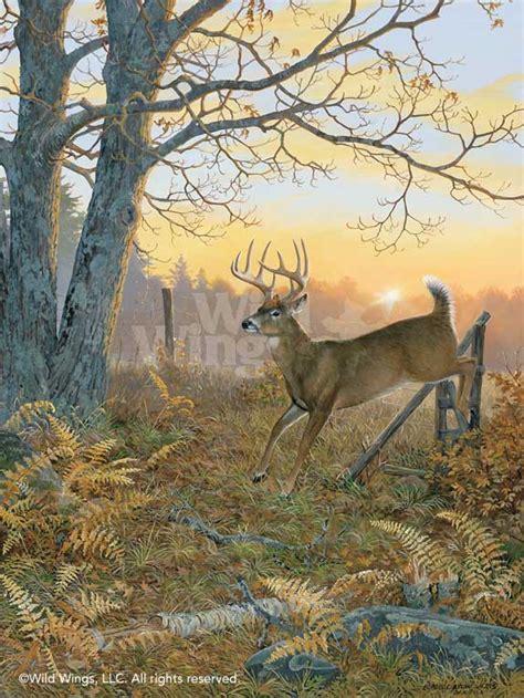 sunrise retreat whitetail deer original acrylic painting