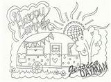Camper Coloring Pages Rv Camping Happy Printable Campers Adult Patterns Colouring Travel Theme Drawing Clip Etsy Felt Fun Stitch Caravans sketch template