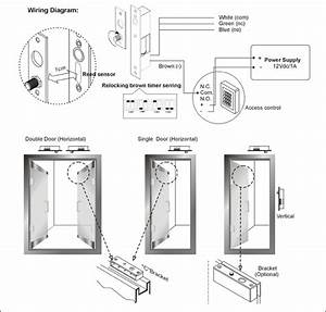 Access Control Drop Bolt Fail Secure Lock With Signal Out