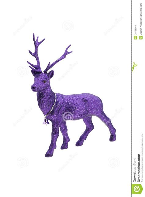 purple christmas reindeer stock images image