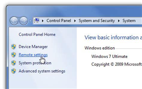 comment puis je activer la connexion bureau 224 distance dans windows 7