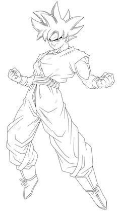 Goku (Ultra Instinct -Sign-) Lineart by TheTabbyNeko on
