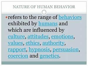 Fundamentals of human behavior