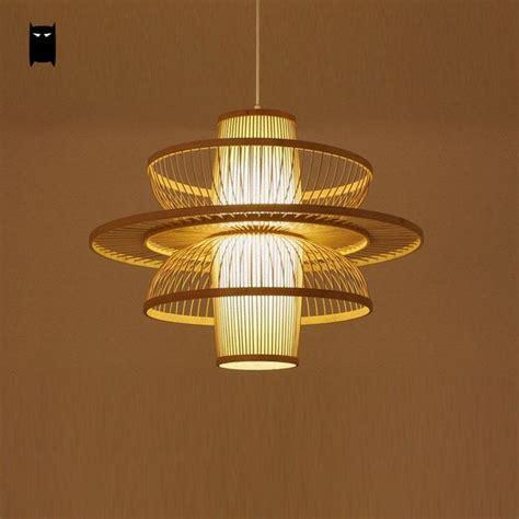 Bamboo Wicker Rattan Dancer Lampshade Pendant Light