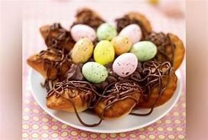 Dessert Paques Original : nid de p ques aux madeleines et c ur de mousse chocolat g teau de p ques version femina ~ Dallasstarsshop.com Idées de Décoration