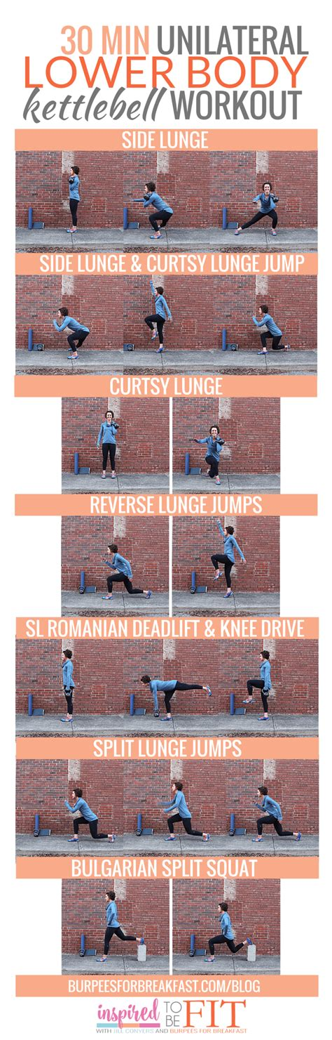 kettlebell lower body workout unilateral minute