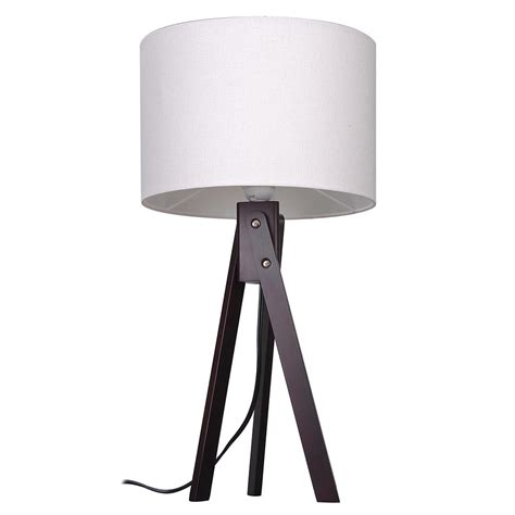 bedroom light stand modern tripod table desk floor lamp wood wooden stand home 10527 | 11dsl001 tri01 blk 03