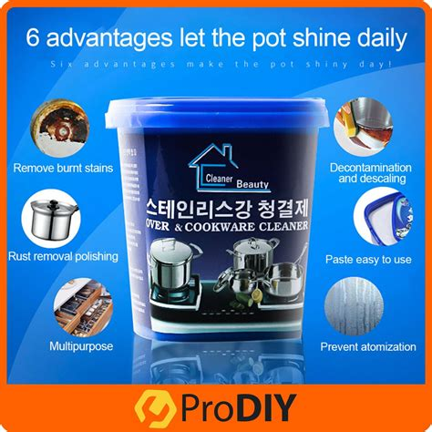oven  cookware cleaner powerful stainless steel cookware cleaning paste household
