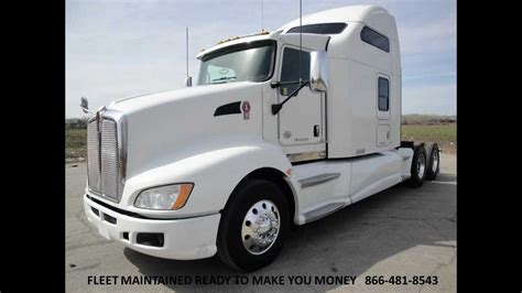 2010 kenworth t680 2010 kenworth t660 studio sleeper with couch from used