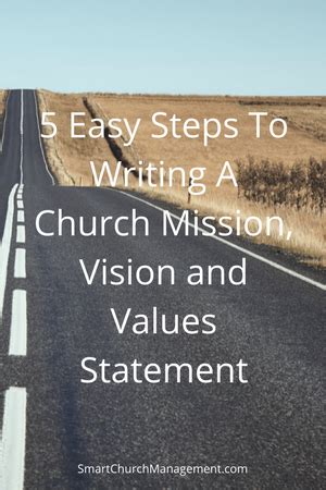 easy steps  writing  church mission vision