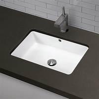 bathroom undermount sinks DECOLAV Classically Redefined Rectangular Undermount ...