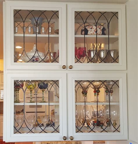 Cupboard Inserts For Kitchen by Stained Glass Glass For Cabinet Door Inserts For
