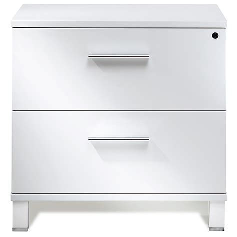 Pure Office Lateral File Cabinet   White Lacquer   DCG Stores