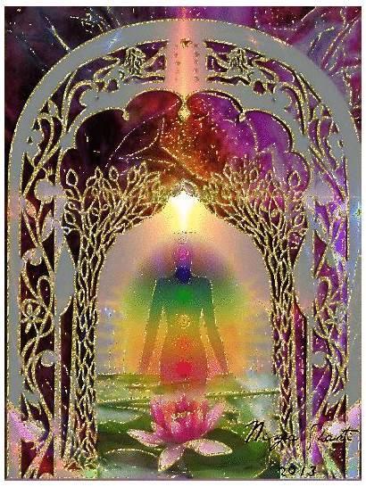Chakra Moving Spiritual Passion Energy Purple Awakening