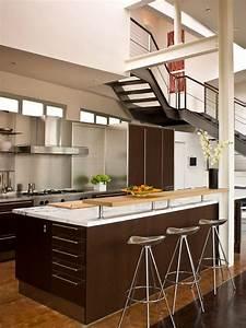 1001 idees cuisine americaine l39ouverture sans le mur With cuisine semi ouverte avec bar