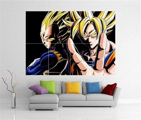 dragon ball z vegeta giant wall art picture poster