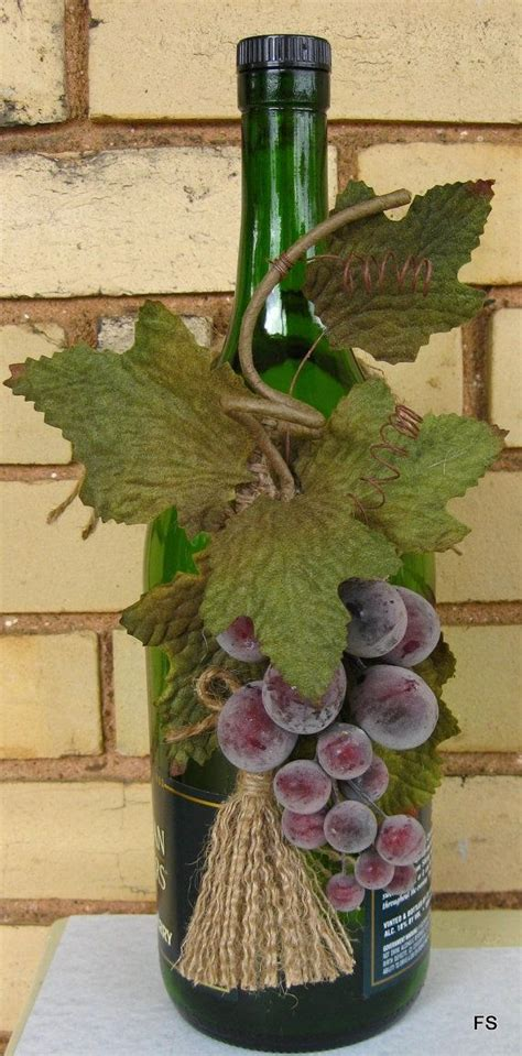 grape kitchen items wine bottle decoration grape kitchen decor by packagepresents 15 00