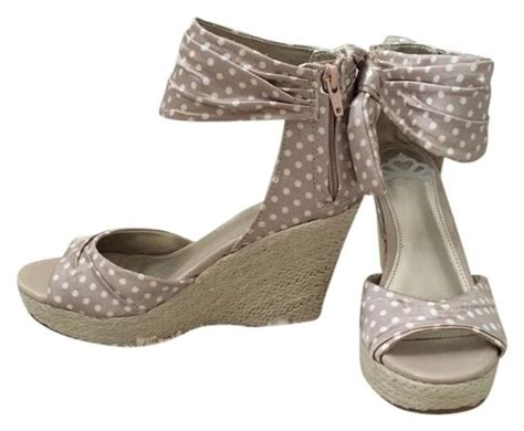 fergalicious by fergie taupe and white wedges sale 64 wedges sale