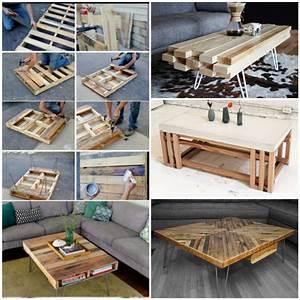 Wohnzimmertisch Aus Holz Selber Bauen Tolle DIY Ideen