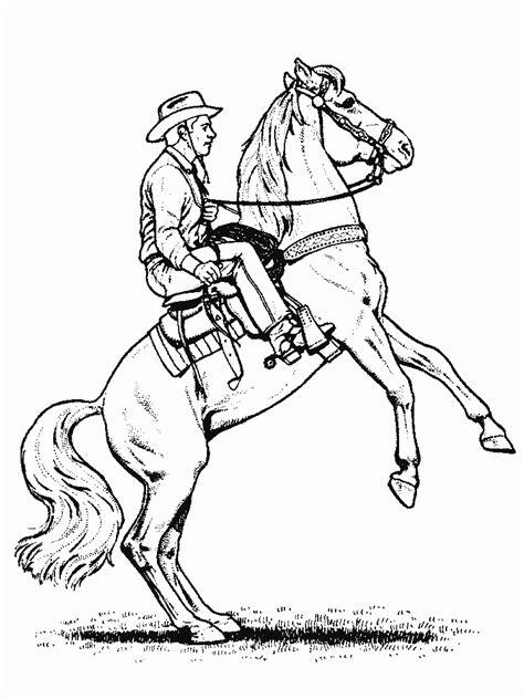 horse     cowboy horses kids coloring pages