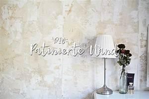 Wandgestaltung Vintage Look : diy wandgestaltung eine wand patinieren fauxpainting ~ Lizthompson.info Haus und Dekorationen