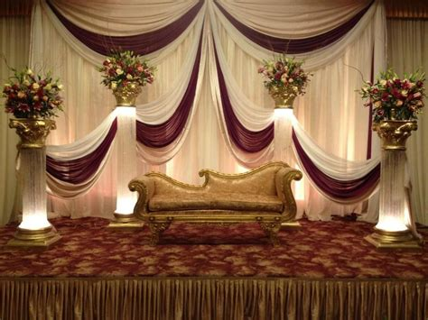 Stage For Wedding Reception Party in 2019 Wedding