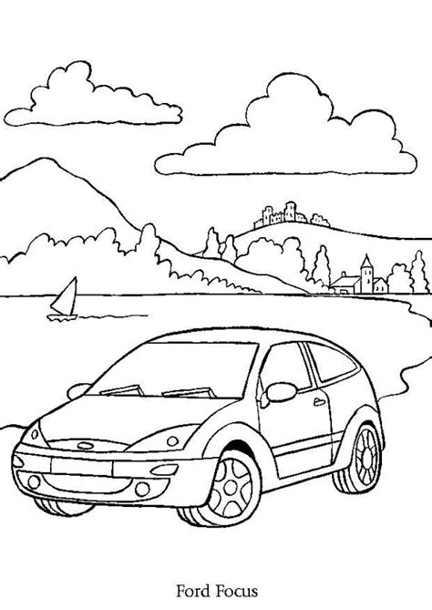 Coloriage Voiture Ford Focus