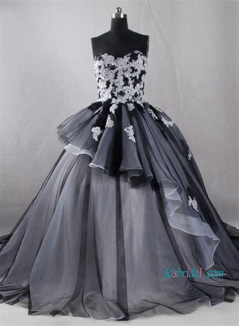 Black And White Colored Wedding Dresses Onlineblack