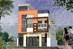 Modern South Indian home design 1900 sq