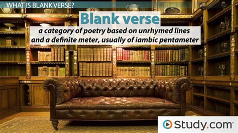 blank verse definition  examples video lesson