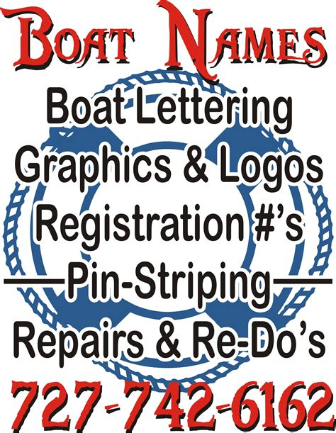 Pinellas County Florida Boat Registration by Boat Name Design Install Ta Clearwater St Petersburg