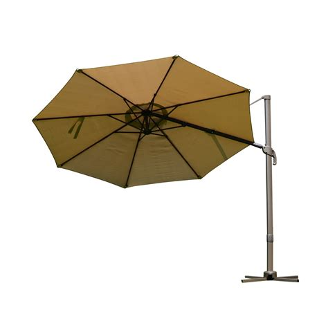 outsunny 9 5 offset market patio umbrella with tilt and