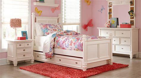 belmar white 5 pc full poster bedroom teen bedroom sets white