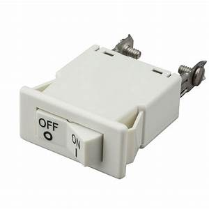 Hampton Bay White Linear Track Live End Power Feed With Cord  Switch-ec707wh