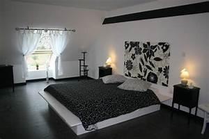 deco chambre noir et blanc With chambre moderne noir et blanc