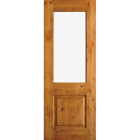 half light door krosswood doors 36 in x 80 in rustic half lite clear low