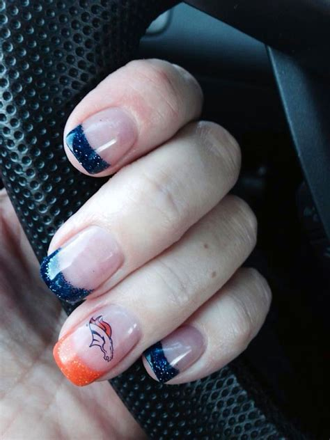 denver broncos nail designs denver broncos nail design bar inc
